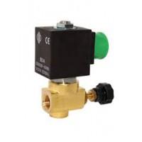 Электромагнитный клапан 21A16KT25, 1/4', PTFE, - 40 + 180 °С, нормально закрытый, цена