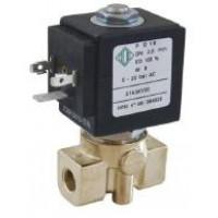Электромагнитный клапан 21A3KT15(30), 1/8', PTFE, - 40 + 180 °С, нормально закрытый, прямое действие, цена
